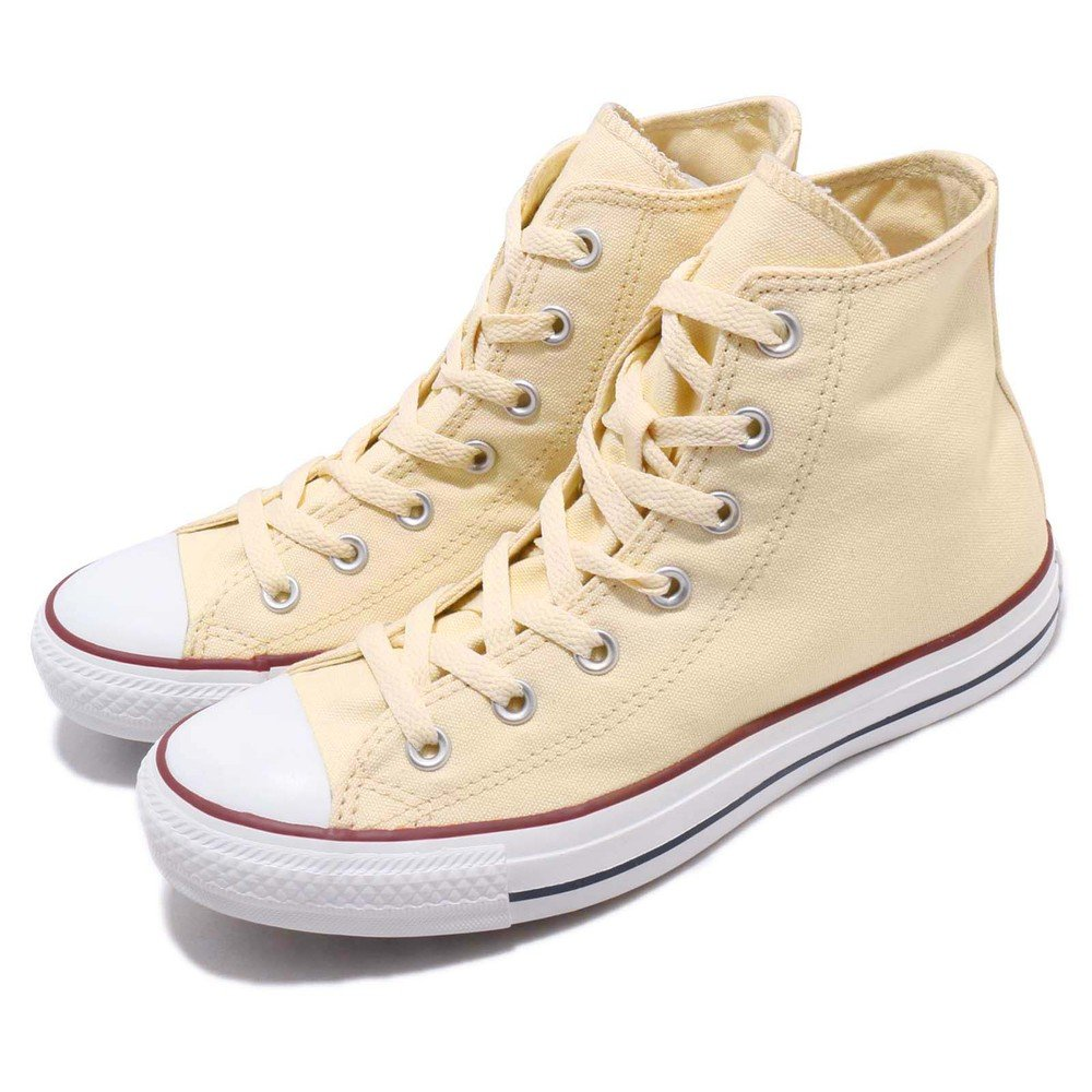 CONVERSE 休閒鞋 All Star 男鞋 女鞋 復古 帆布 高筒 情侶鞋 基本款 卡其 白 [M9162C]
