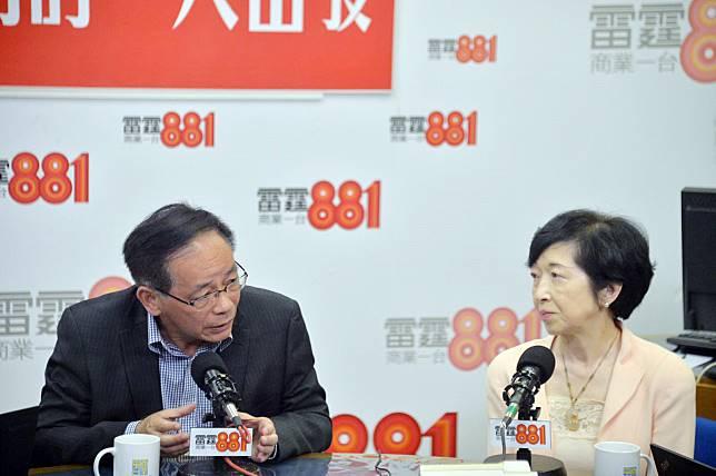 兩名行政會議成員葉國謙(左)及羅范椒芬(右)表示,承認在修例事件上低估民情,願意道歉。