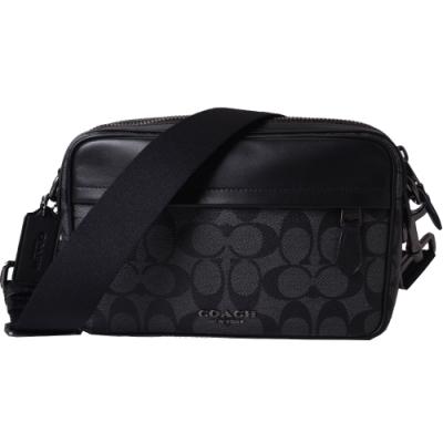 COACH GRAHAM 經典緹花新款相機包/斜背包-經典黑