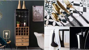 【情人節送禮清單】讓兩人的小窩更有氣氛,8款純黑系「時髦家居選物」推薦,歐風復古酒櫃超有質感!