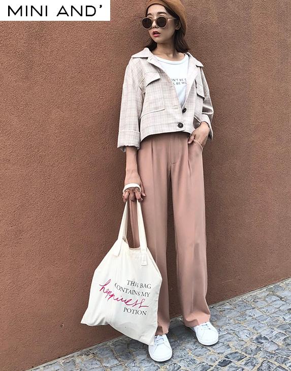 PAZZO+俐落質感單釦休閒長褲