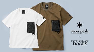 Snow Peak 與 Urban Research Doors 聯名之作 Pock T-shirt