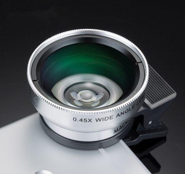 [協貿國際]手機0.45x超廣角微距鏡頭手機單反外置攝像頭瘦身手機鏡頭1入