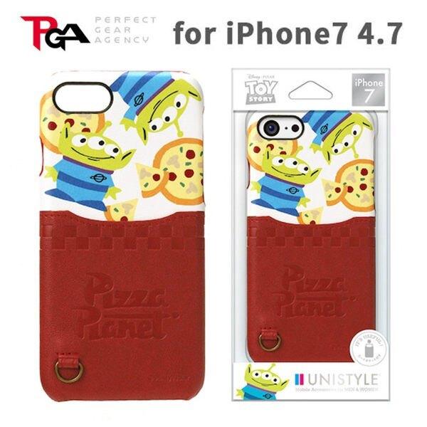 iJacket iPhone 7 迪士尼皮革系列 可插卡 硬式保護殼 - 披薩三眼怪