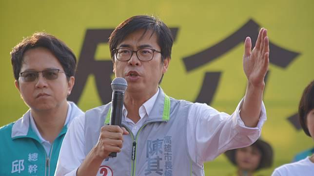 ▲陳其邁表示,全世界都在看,要看台灣人的智慧,要看高雄人的選擇。 。(圖/記者蔡佳宏翻攝,2018.10.20)