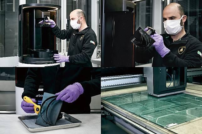 醫用防護面罩,則由碳纖維生產車間和研發部門的3D打印機負責生產,日產量可達200套。(互聯網)
