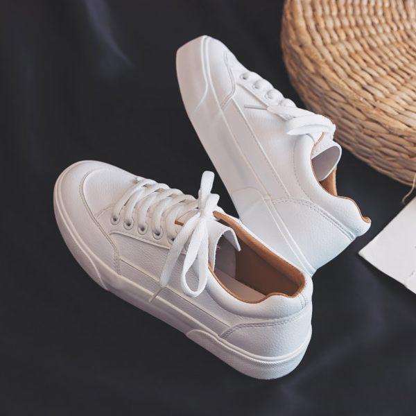 女休閒鞋運動鞋百搭基礎小白鞋女春季新品女帆布鞋學生正品迷你板鞋平底白鞋推薦