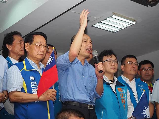 韓國瑜竹市黨部演說希望柯P把「孤狸」2字收回去