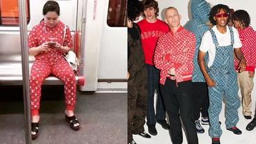 Louis Vuitton x Supreme 有夠潮,廣州大媽穿上全套搭地鐵!
