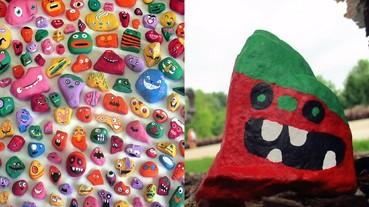 爸爸帶著 6 小孩一年畫遍 1000 顆石頭 可愛到讓人想要收藏當作裝飾品!