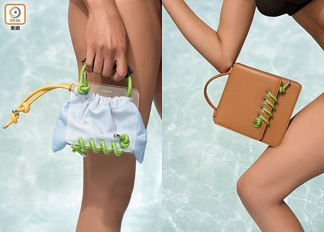 來自倫敦的小眾手袋品牌SCOTRIA,代表作是以色彩繽紛的皮帶穿過皮革來裝飾手袋,看起來就像電話聽筒的螺旋電線,為手袋增添趣味。(互聯網)