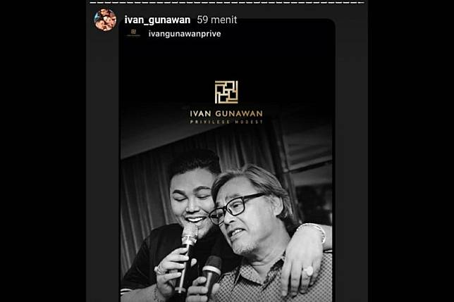 Kabar duka, ayah Ivan Gunawan meninggal dunia