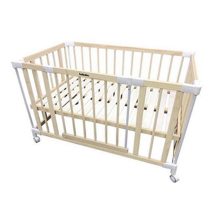 預購4月底出貨【日本 BABUBU】七合一多功能成長型嬰兒床 含桌面、固定帶 加贈專用床墊