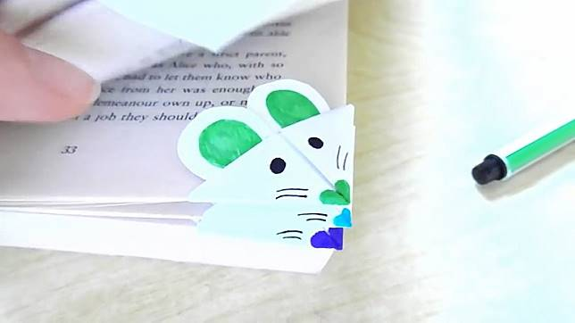 可愛的老鼠書籤,為你學習打打氣。(互聯網)