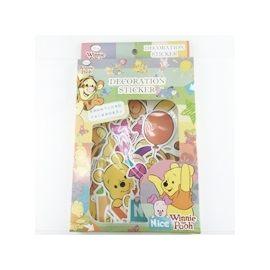 【收藏天地】迪士尼系列*行李箱裝飾貼紙-小熊維尼系列∕ 文創 送禮 卡通 可愛 裝飾 禮品
