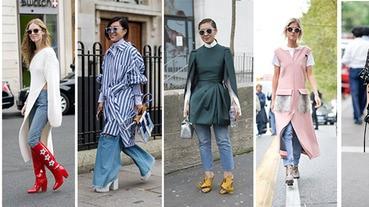 舊衣新穿有新招,潮人教妳「洋裝Mix丹寧褲」搭出時尚