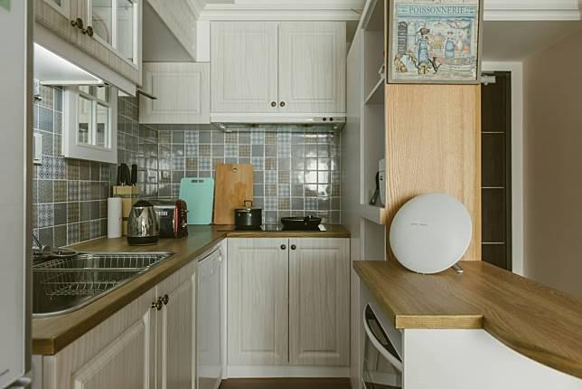 4. 可愛的L型廚房