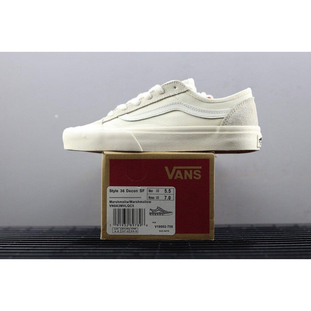 【日本海外代購】Vans Style 36 Decon SF 短頭 白灰 米白 白線 VNOA3MVLUBA 男女