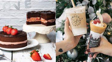 冬季限定聖誕甜點盤點!巨量草莓厚鬆餅、爆漿可麗餅、抹茶甜甜圈都必吃