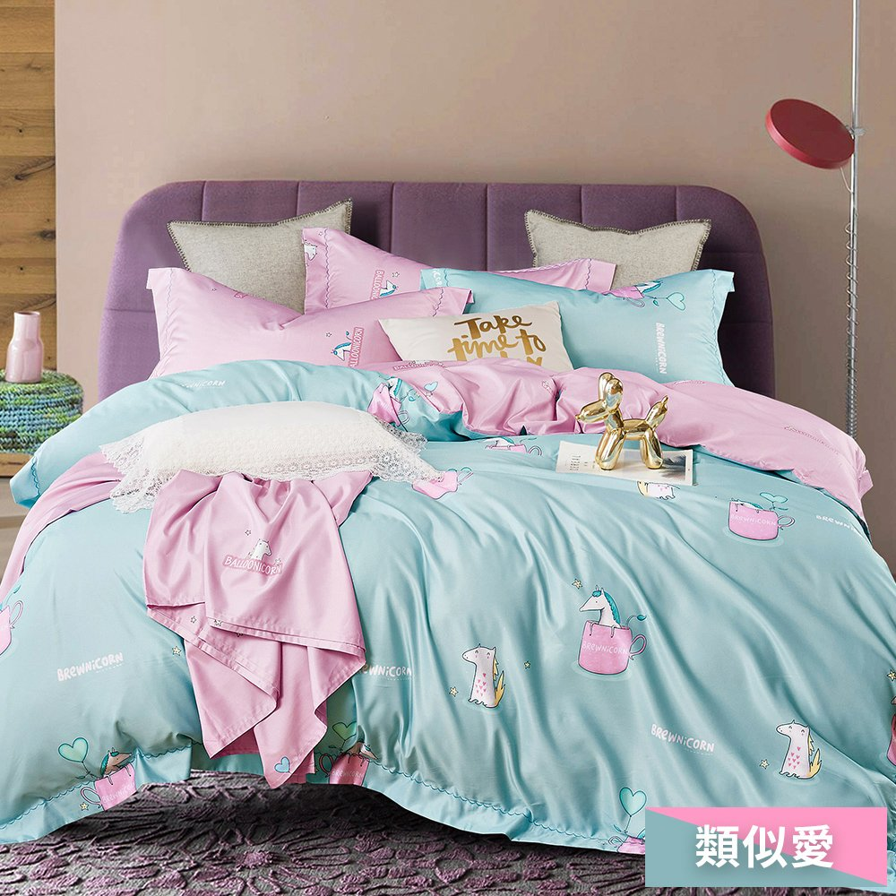 Pure One 涼感天絲 加大鋪棉兩用被 採用3M吸濕排汗藥劑 加大床包四件組 - 類似愛