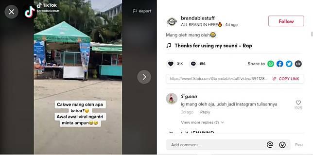 Viral warung odading mang oleh yang sempat viral gegara Ade Londok kini malah dikasihani (TikTok).