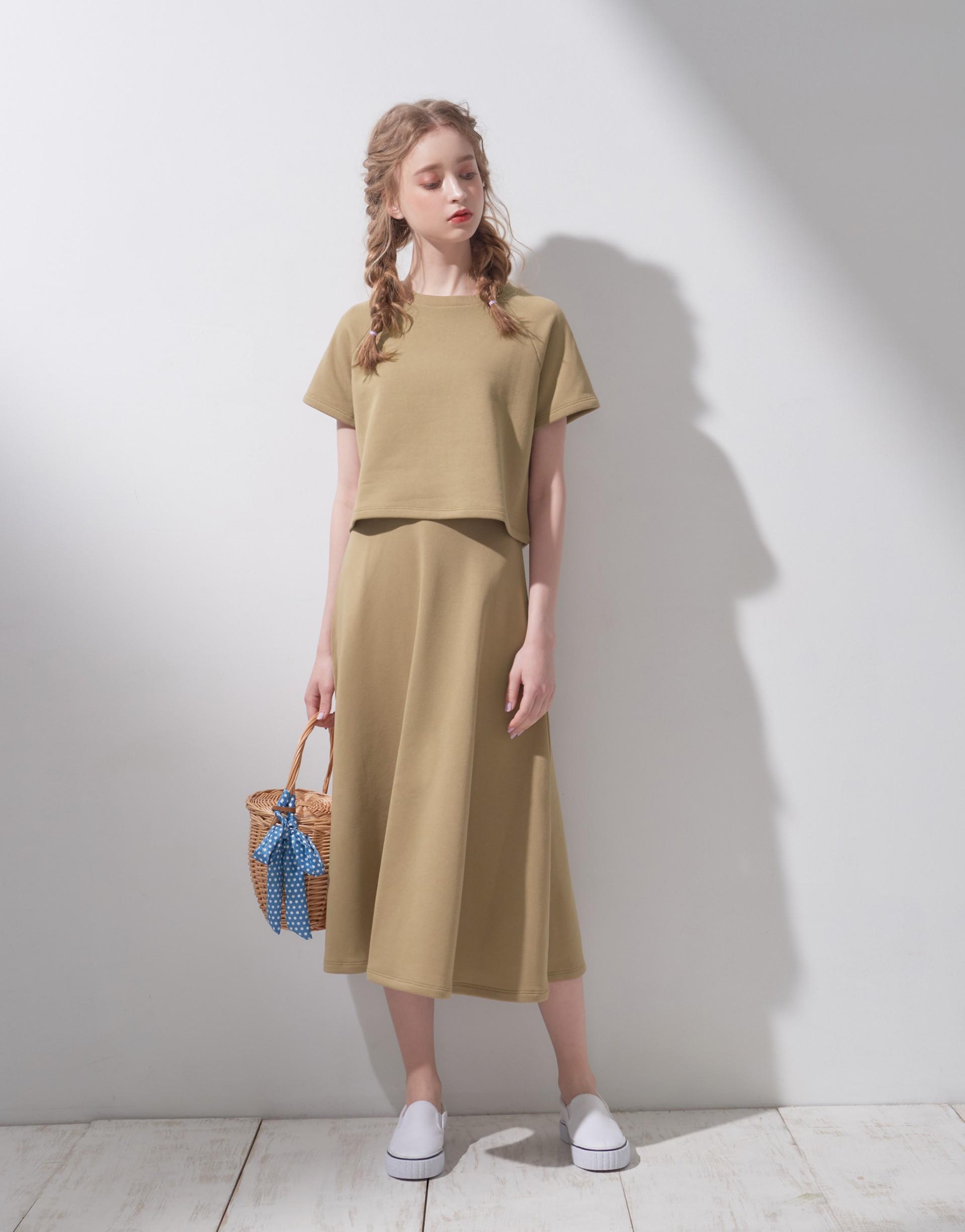 MIT製造/上身跟下身可分開穿搭/裙子鬆緊帶設計