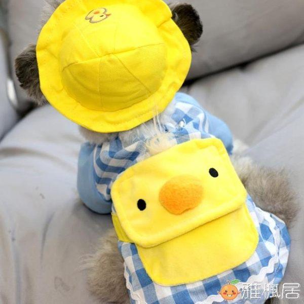 幼稚園狗狗衣服泰迪比熊博美雪納瑞貴賓寵物衣服戴帽子賣萌神器 雅楓居