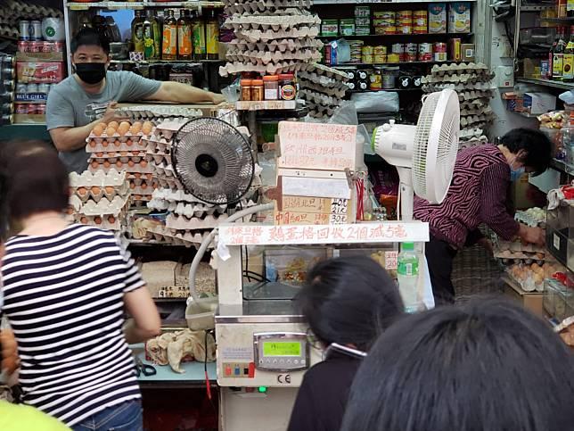雜貨店開業逾30年,以賣歐洲蛋見稱。