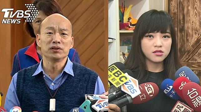 高雄市長韓國瑜(左)、時代力量高雄市議員黃捷(右)。圖/TVBS資料畫面