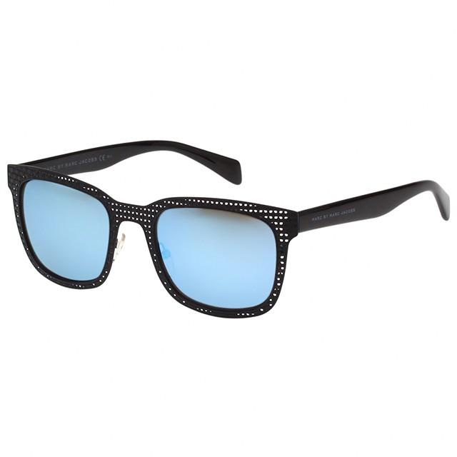 品牌MARC BY MARC JACOBS品類太陽眼鏡鏡片總類太陽(抗UV400鏡片)顏色藍色系, 黑色系款式方框, 金屬框版型亞洲高鼻墊版手工鏡框否產地義大利鏡框材質醋酸纖維, 高級合金鏡片材質樹脂