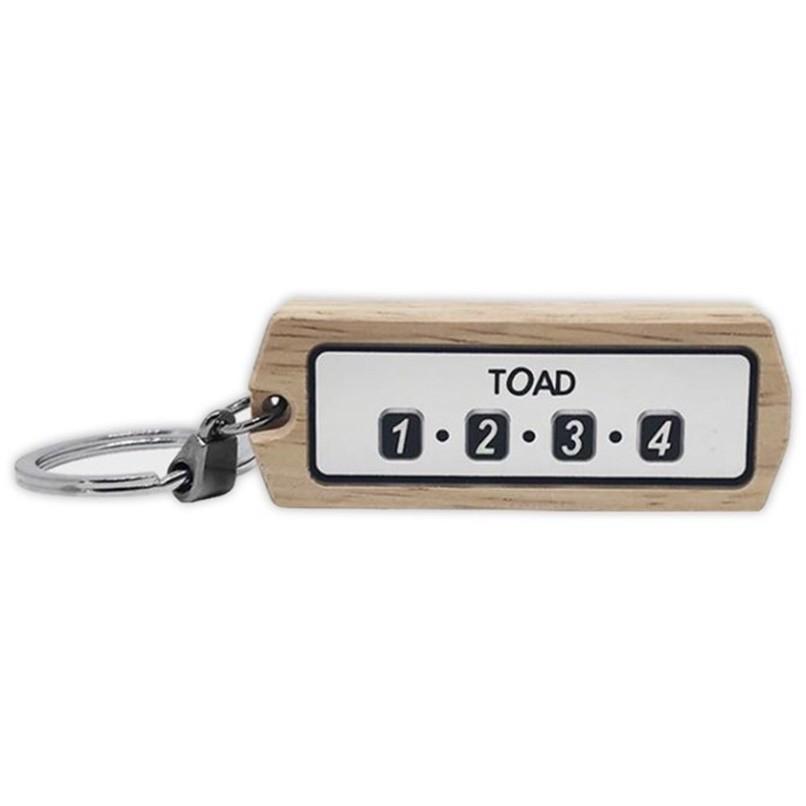 韓國TOAD 電話號碼牌/車尾號碼牌 木頭鑰匙圈 1172
