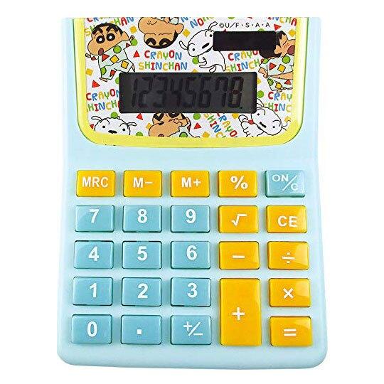 〔小禮堂〕蠟筆小新 8位元計算機《綠黃.睡衣》事務用品