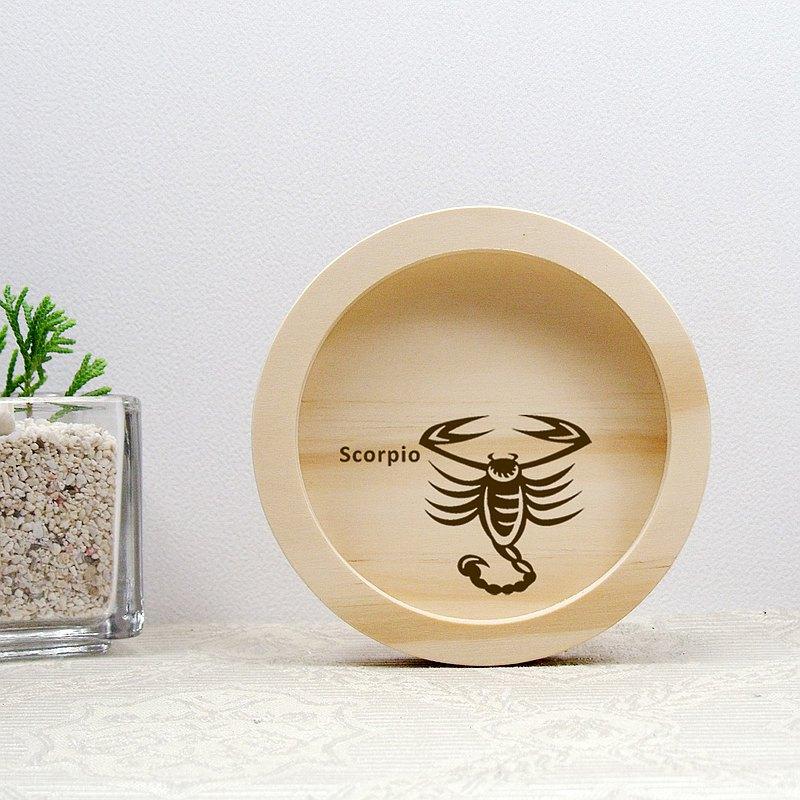 天蠍座 Scorpio 生日禮物 祝福禮物 實木 圓融 杯墊 馬克杯掛架