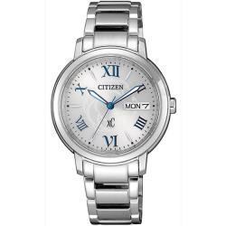 【CITIZEN 星辰】專屬星座光動能時尚腕錶-銀(EW2420-51A)