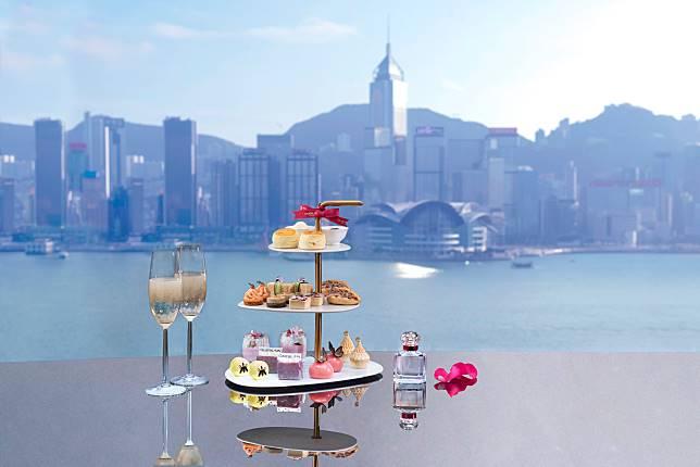 嘆食物、香氣之餘還有維港靚景。