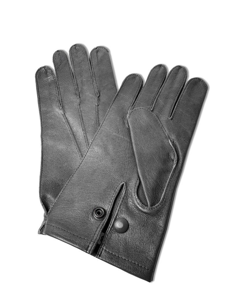 全新德軍防水防風灰色羊皮手套。