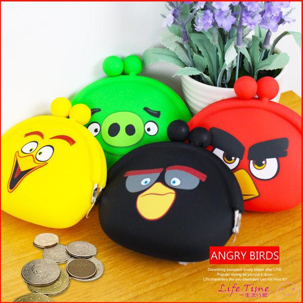 憤怒鳥 Angry Birds 正版 矽膠水餃小零錢包 鑰匙收納包 萬用小物包 B10130