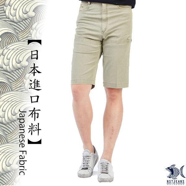 【NST Jeans】日本布料_丟掉拘謹擁抱夏天 淡卡其 側袋短褲(中腰) 390(9422) 兩色可選 英倫白/淡卡其