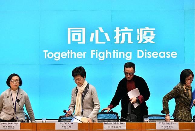 林鄭月娥強調盡力恢復香港口罩供應。