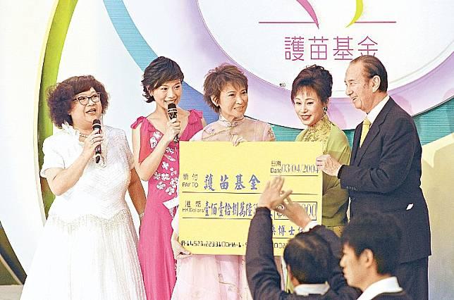 三太(右二)是護苗基金贊助人。
