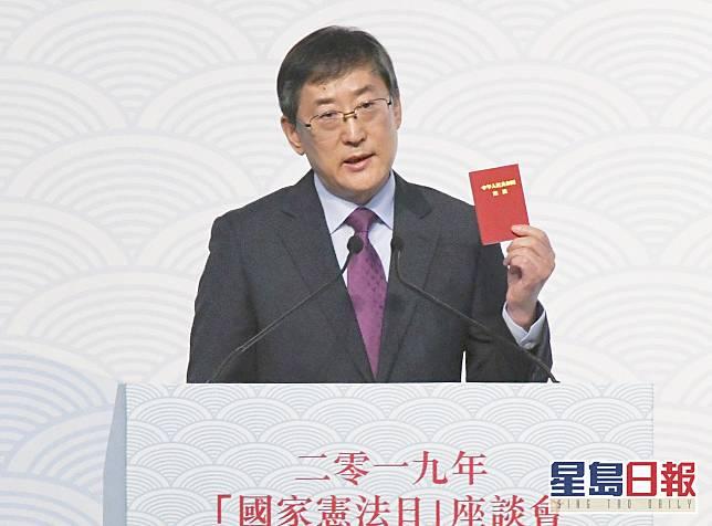 韓大元表示,任何法律都不是完美,需在實踐中改善。資料圖片