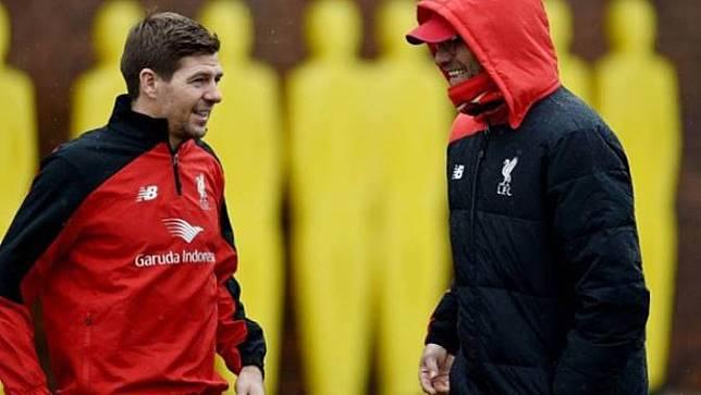 Steven Gerrard dan Jurgen Klopp (Liputan6)