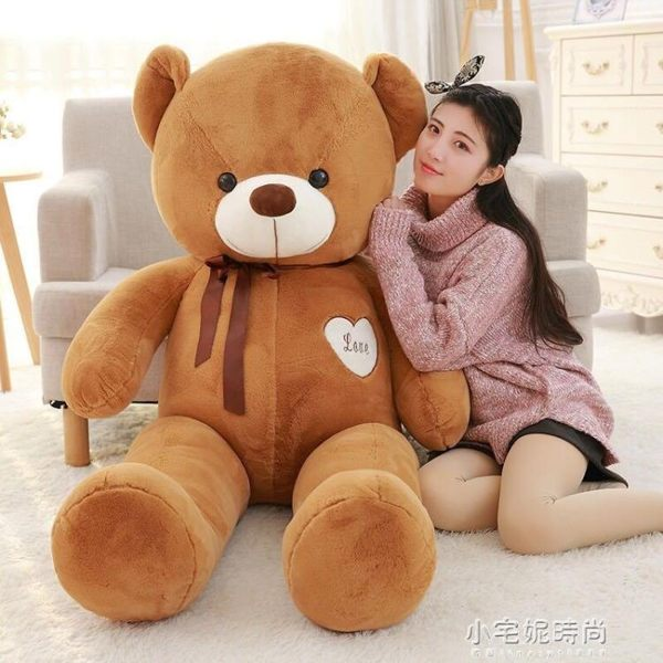 泰迪熊貓抱抱熊公仔2米布娃娃女孩睡覺抱可愛毛絨玩具大熊送女友YXS『小宅妮時尚』