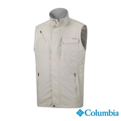 Columbia 哥倫比亞 男款-UPF50快排背心-卡其 UAE01730KI