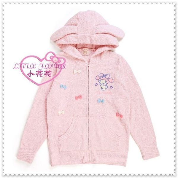 小花花日本精品♥Hello Kitty 美樂蒂 連帽外套 絨毛外套 休閒連帽外套 上衣 粉色側姿10411605