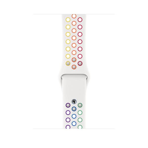 44 公釐彩虹版 Nike 運動型錶帶 - 標準 Apple Watch Nike 運動型錶帶 (可配置為 S/M 或 M/L 長度的錶帶)