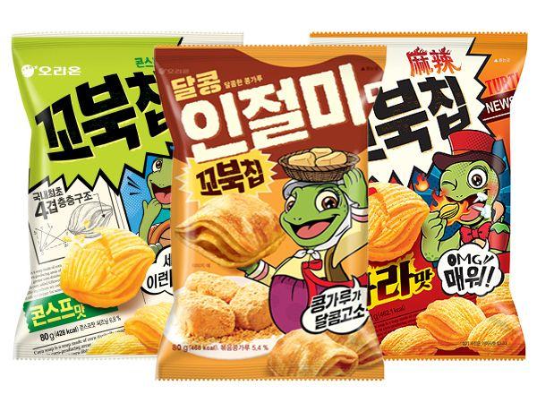 韓國 好麗友~烏龜玉米脆餅(80g) 款式可選【D784409】進口/零食/團購,還有更多的日韓美妝、海外保養品、零食都在小三美日,現在購買立即出貨給您。