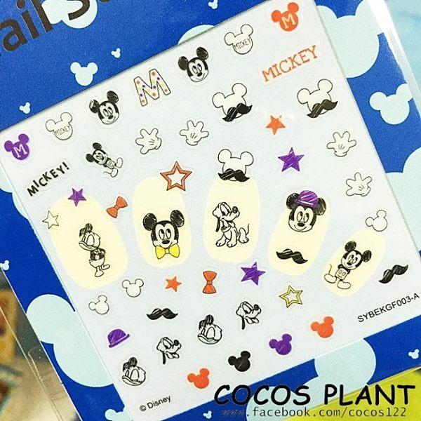 迪士尼指甲貼 米老鼠 紫色米奇 美甲貼 指甲貼紙 指甲貼 彩繪貼紙 COCOS PF033