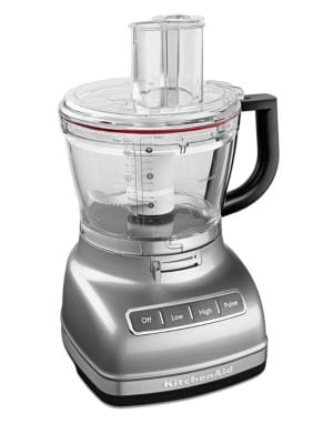 This 14-Cup food processor features a hands-free, commercial-style dicing kit, calibrated for your c