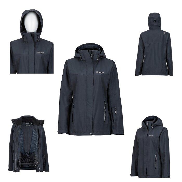 美國 Marmot 土撥鼠 35570 女Goretex 兩件式(內層羽絨外套)防水透氣外套(黑),登山雨衣,防水外套